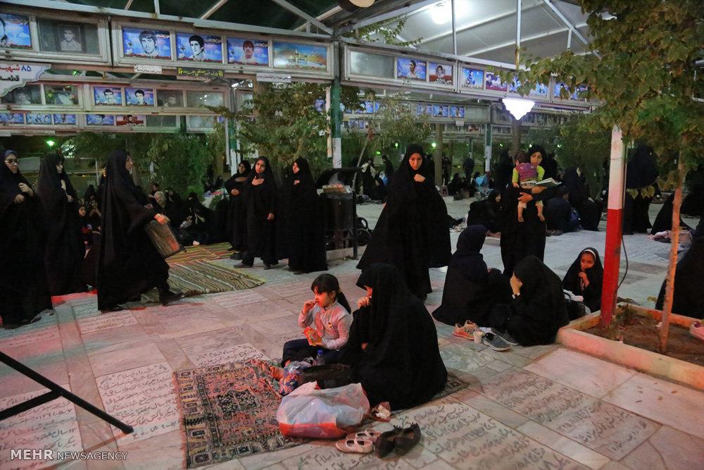 تشییع دو شهید مدافع حرم در هیات رزمندگان اسلام قم