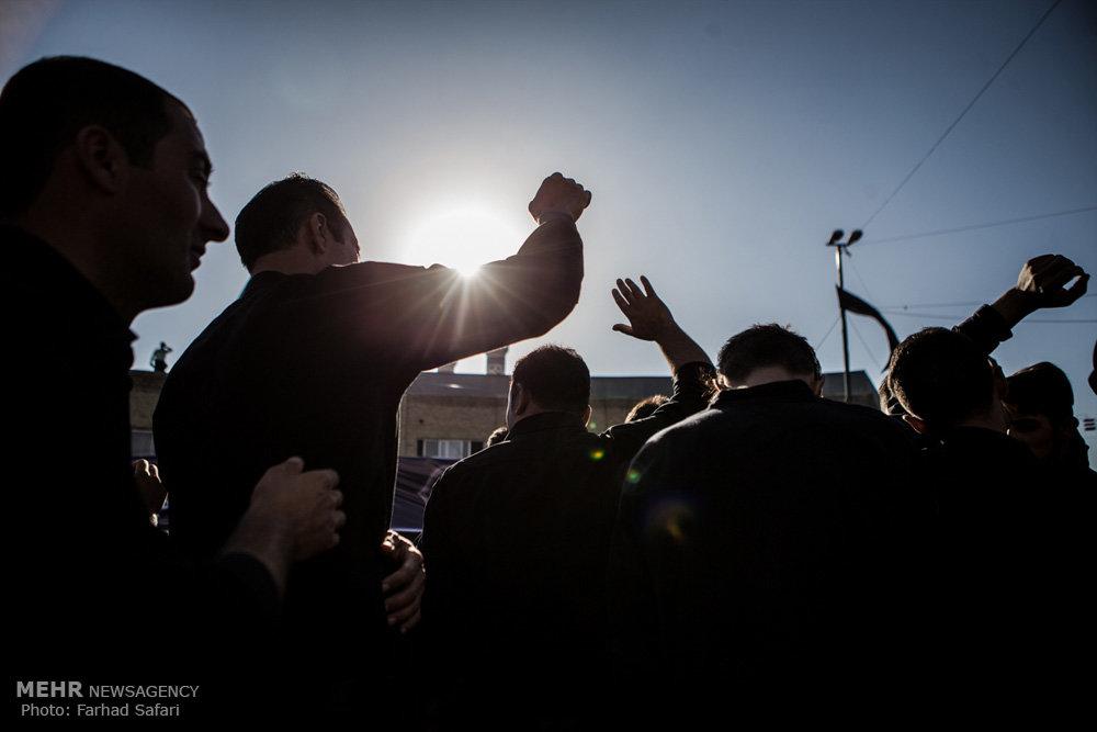 عزداری با شکوه حسینیه اعظم زنجان در یوم العباس