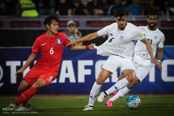 لقاء بين المنتخب الايراني لكرة القدم ونظيره الكوري الجنوبي/صور