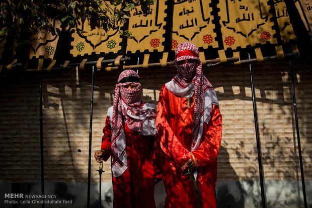 """مراسم دخول القافلة الحسينية إلى كربلاء في """"نوش آباد"""""""
