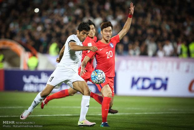 فوز المنتخب الايراني لكرة القدم على نظيره الكوري الجنوبي في تصفيات كأس العالم لكرة القدم 2018