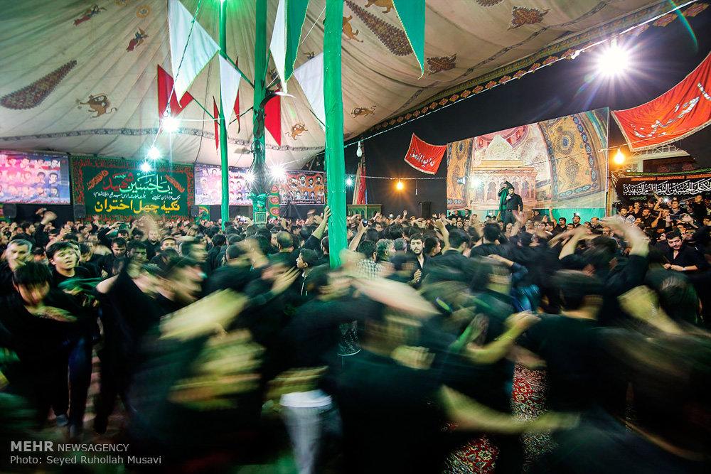عزاداری شب تاسوعا در جوار بقعه امامزاده مبرقع(ع) قم