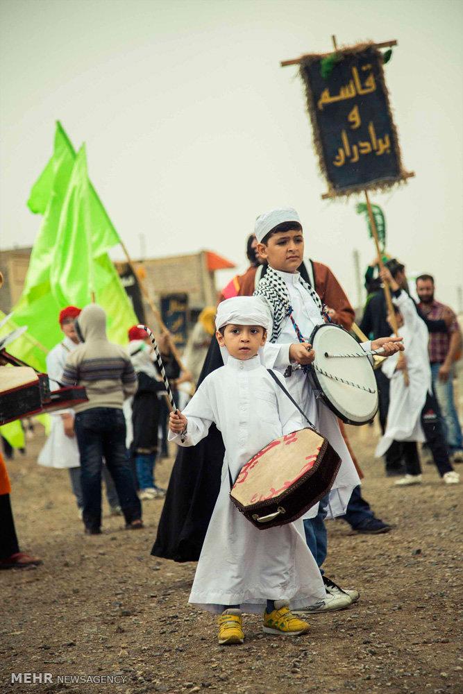 تعزیه ورود کاروان حسینی به کربلا در نوش آباد