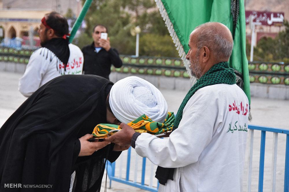 ورود کاروان پیاده انصارالحسین (ع) به شهرضا