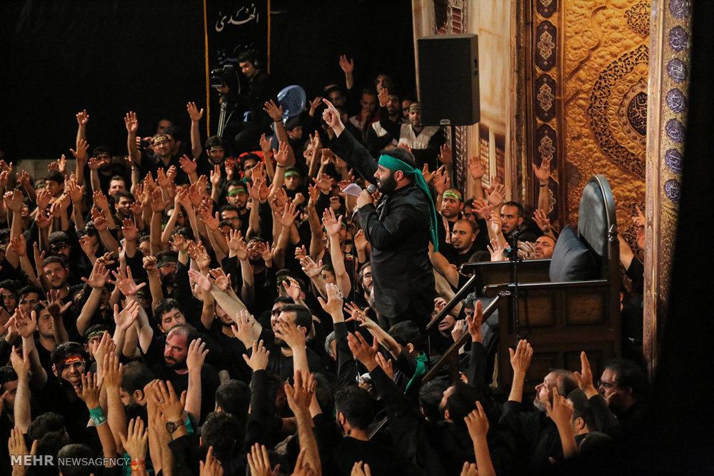 مراسم عزاداری شب تاسوعا در هیئت رزمندگان اسلام