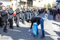 پاکسازی مسیر های عزاداران حسینی در تبریز