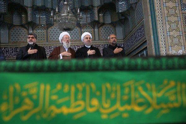 الرئيس الايراني يشارك في مراسم العزاء الحسيني يوم عاشوراء