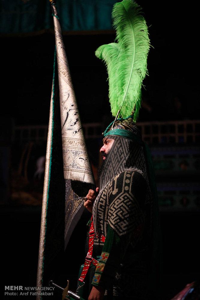 مراسم تعزیه خوانی در حسینیه اعظم برغان