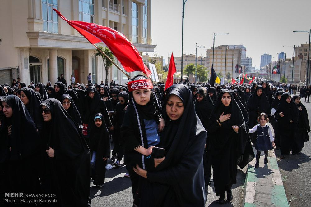 دسته عزاداری دانشگاه امام صادق(ع) در روز عاشورا