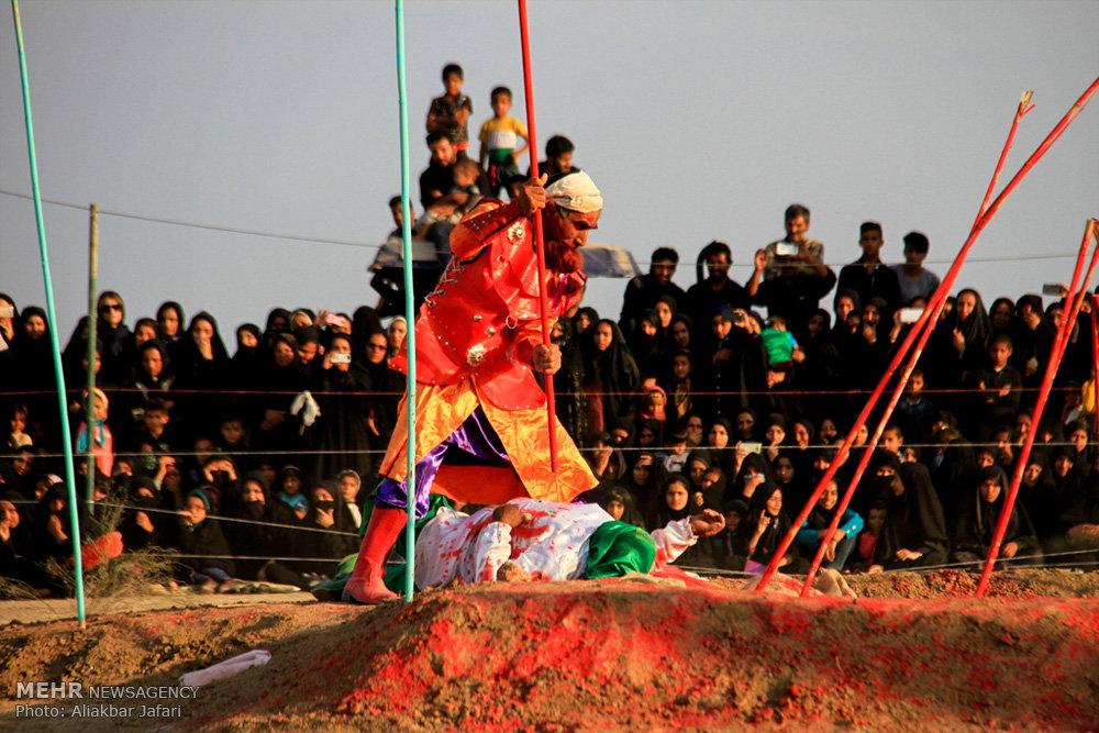 مراسم تعزیه خوانی روز عاشورا در شهرستان آق قلا