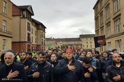 عزادارای در شهر گلاسکو اسکاتلند