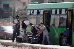 اخراج المسلحين من  بلدتي قدسيا والهامة في ريف دمشق