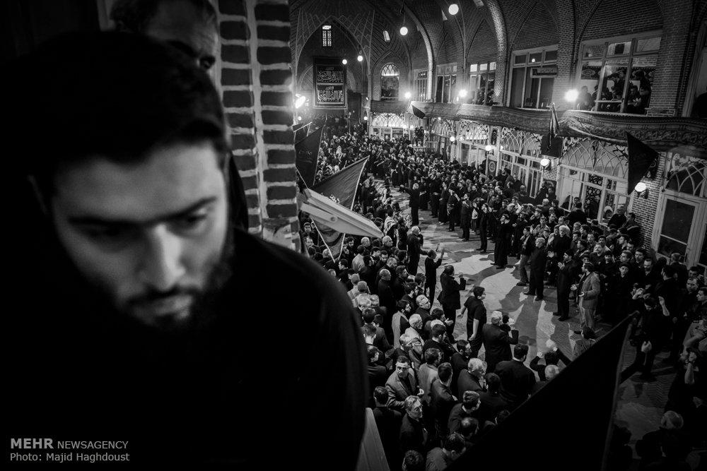 عزاداری عاشقان اباعبدالله الحسین(ع) در بازار تبریز