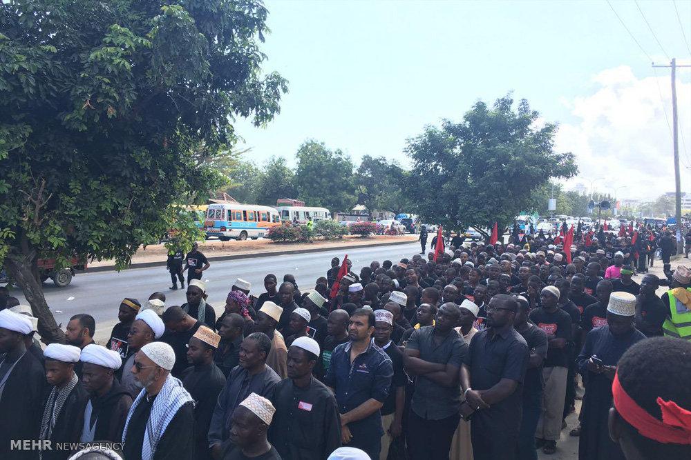 عزاداری شیعیان تانزانیا در تاسوعا و عاشورای حسینی در دارالسلام