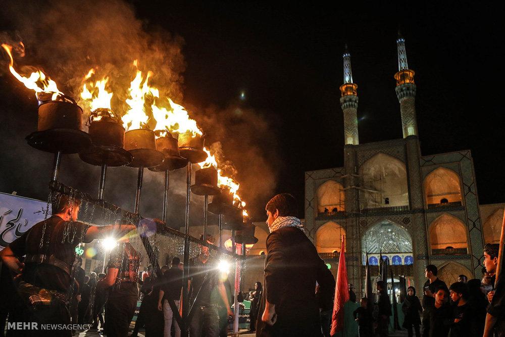عزاداری ایام محرم در حسینیه ایران یزد