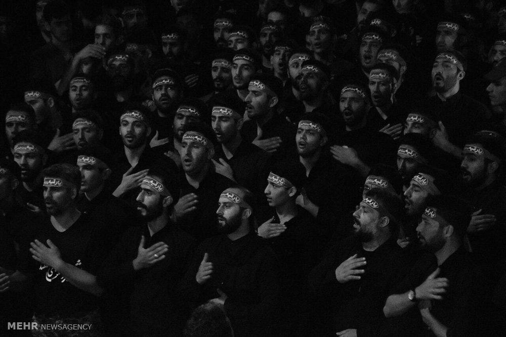 مراسم شام غریبان در هئیت شهدای گمنام آل یاسین گرگان