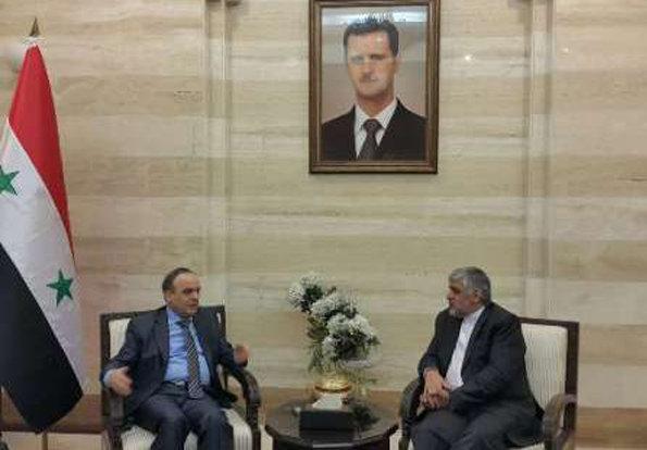 Envoy to Damascus bids farewell to Syrian PM