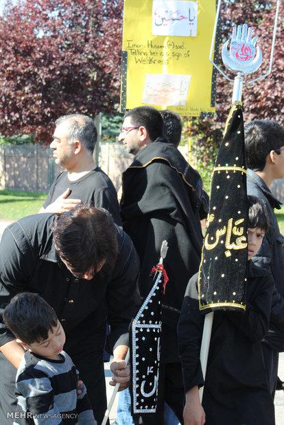 اقامة مراسم العزاء الحسيني في مدينة تورنتو الكندية