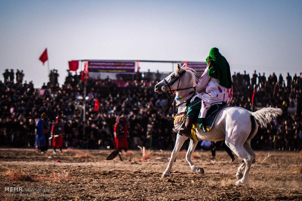 مراسم خیل عرب و خیمهسوزی در نوش آباد