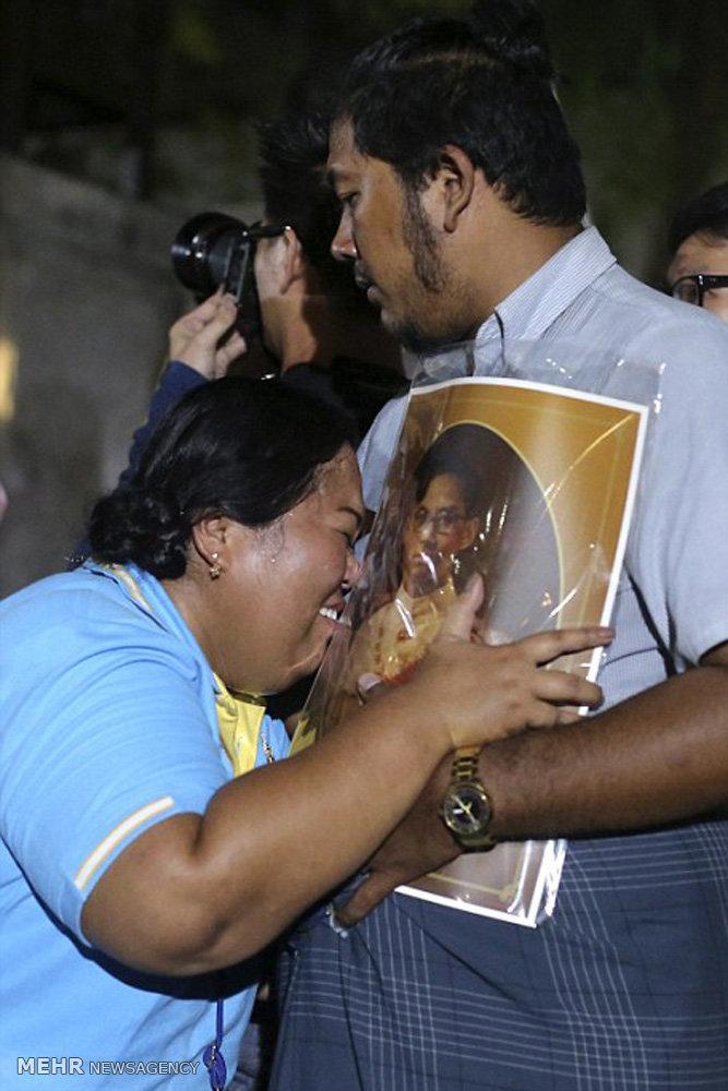 سوگواری برای درگذشت پادشاه تایلند