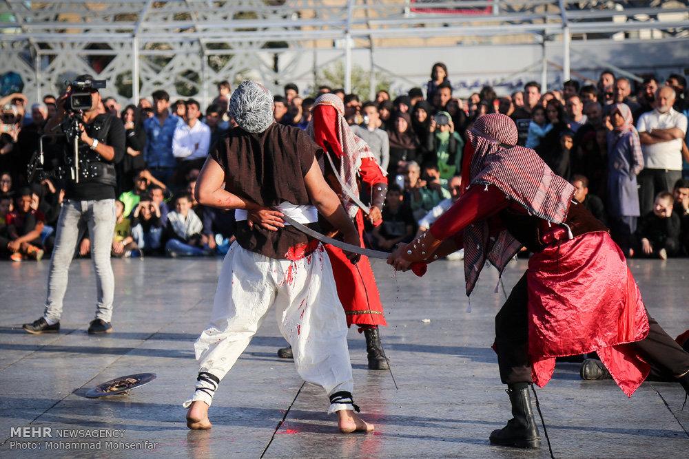 اجرای تعزیه در میدان امام حسین تهران