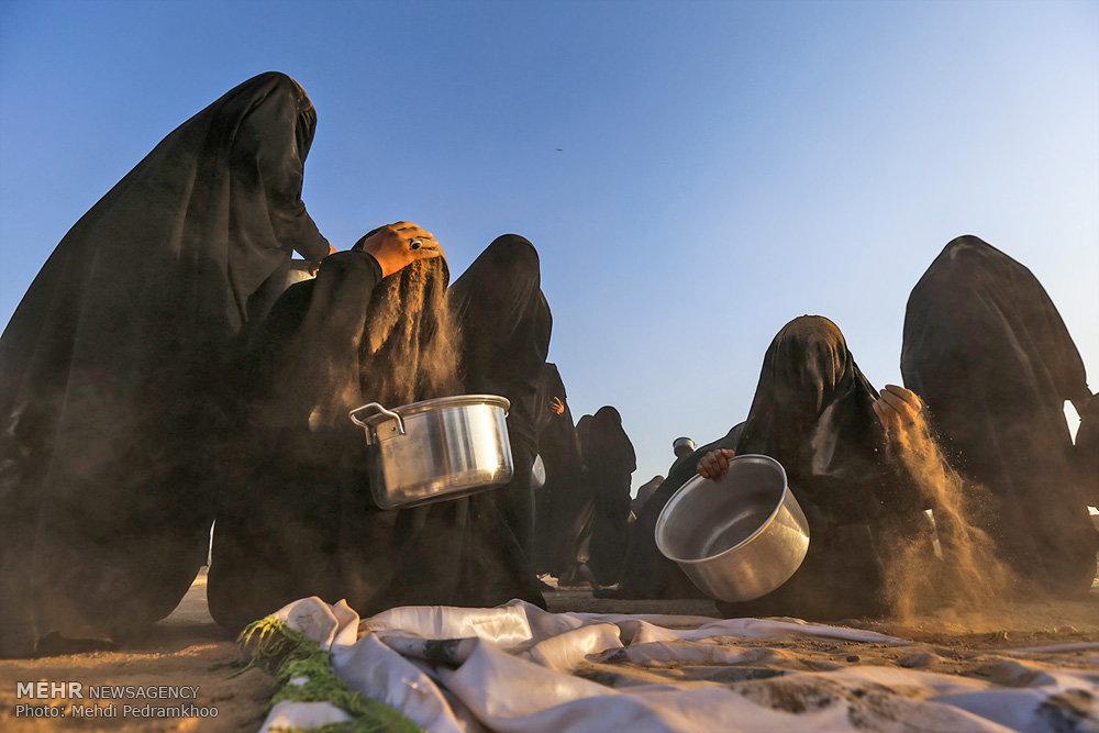 آیین تدفین نمادین شهدای کربلا در شهرستان حمیدیه