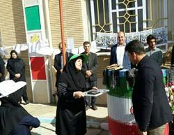 اهدا مدال محمد خالوندی به مدرسه کم توانان ذهنی در کرمانشاه