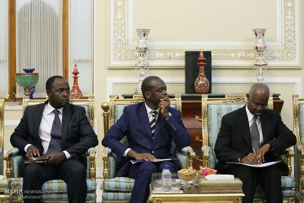 Larijani receives Ivory Coast FM