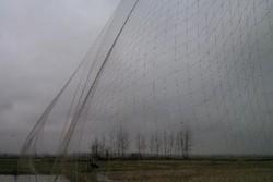 کشف و ضبط ۱۲ رشته تور هوایی غیرمجاز در شهرستان لنگرود