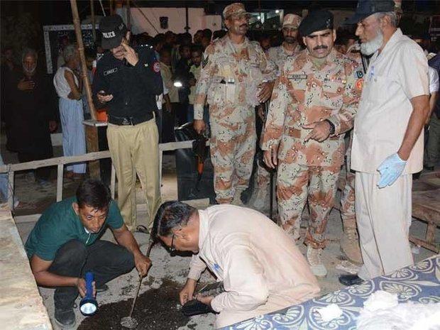 کراچی میں امام بارگاہ پر دہشت گردانہ حملے میں 13 سالہ بچہ  شہید ، 20 افراد زخمی