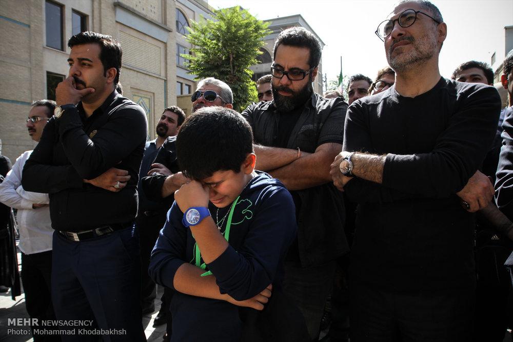 تشییع پیکر سعید کشن فلاح