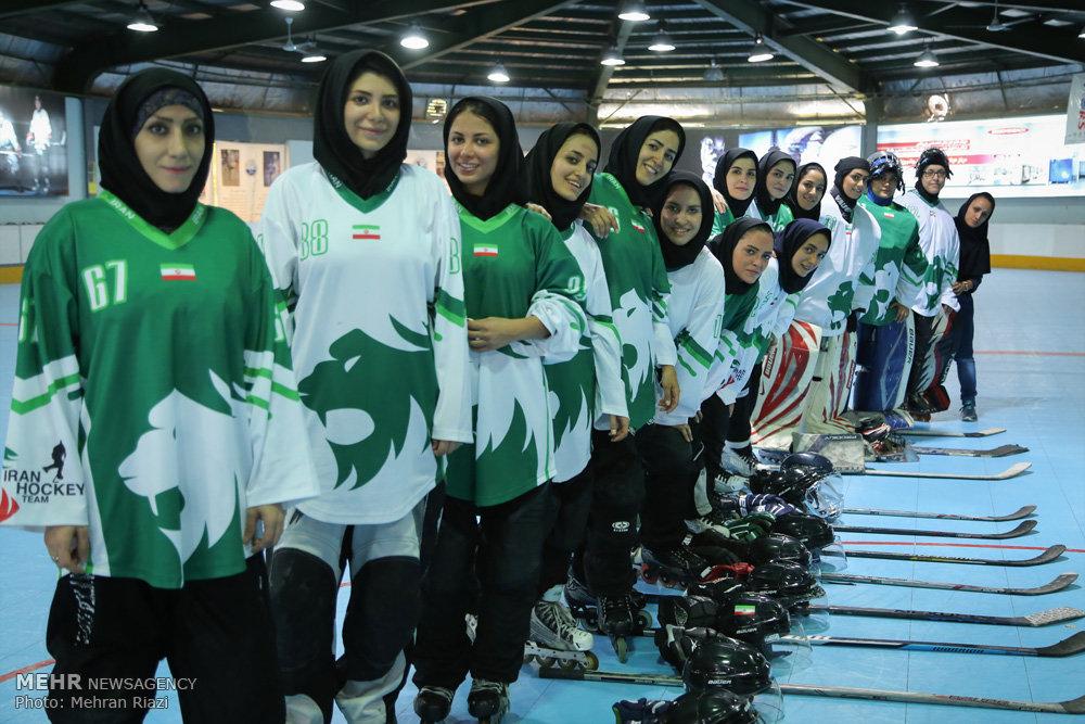 تمرین تیم ملی اسکیت هاکی ایران