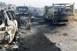 انهدام کاروان خودروهای داعش
