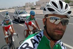 محمد گنج خانلو عضو تیم ملی دوچرخه سواری