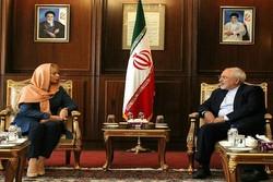 وزير الخارجية الايراني يلتقي بمسؤولة الصناعة وريادة الأعمال بالاتحاد الأوروبي
