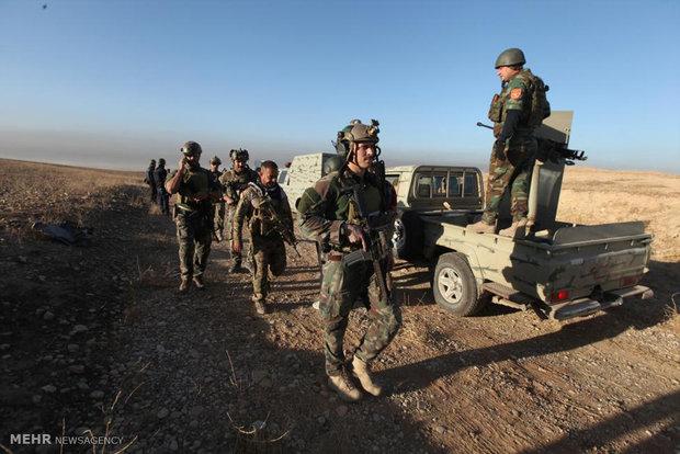اهتزاز پرچم عراق در «برطله»/نیروهای امنیتی وارد «نعناعه» شدند
