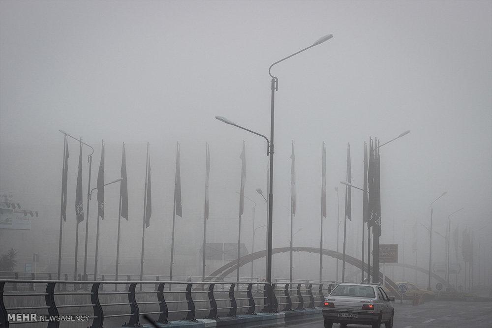 مه گرفتگی در گرگان