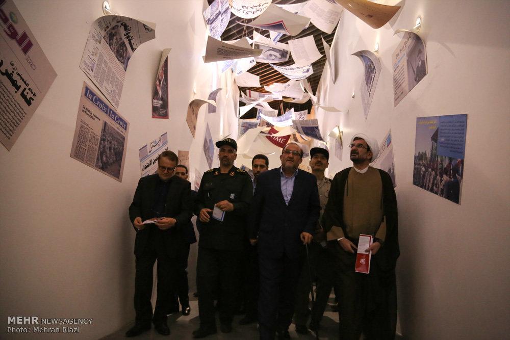 افتتاح تالار پیروزی در باغ موزه دفاع مقدس