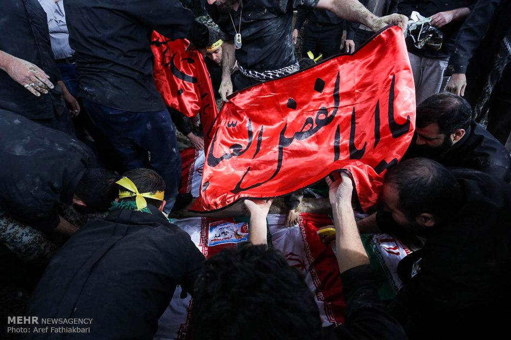 تشییع پیکر مطهر دو شهید گمنام در کرج