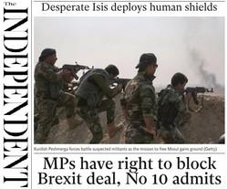 صفحه اول روزنامه های انگلیسی ۲۸ مهر ۹۵