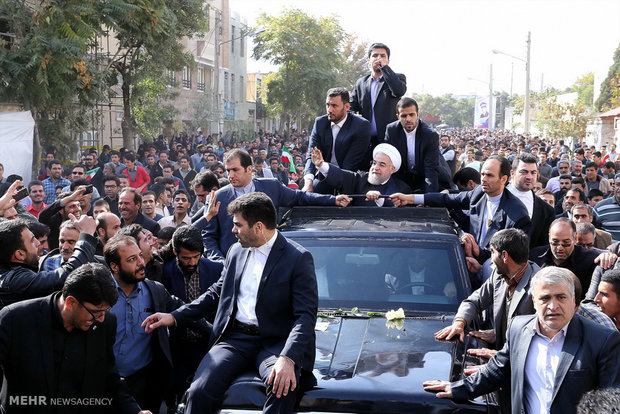 Pres. Rouhani in Arak on provincial tour