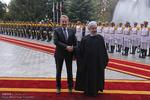 مراسم استقبال رسمی روحانی از باقر عزت بگوویچ