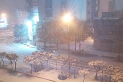 بارش اولین برف پاییزی شهر اردبیل را سفیدپوش کرد