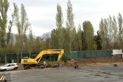 قطع درختان در مجموعه ورزشی انقلاب