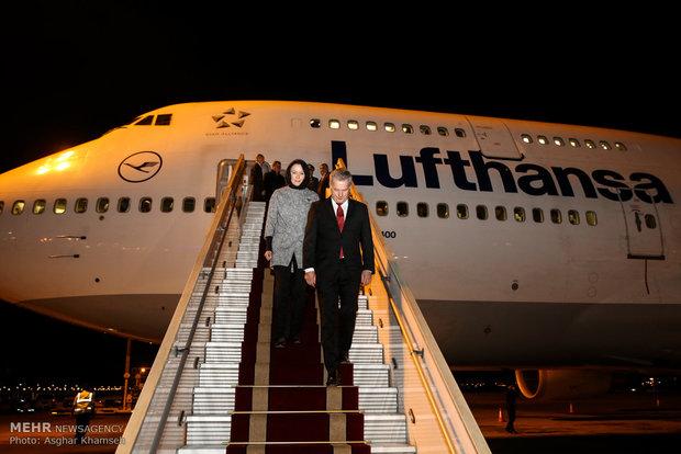الرئيس الفنلندي يصل الى طهران