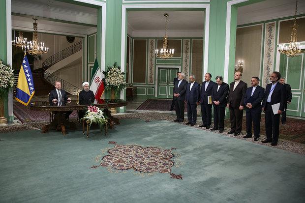 ايران والبوسنة يوقعان على مذكرة تفاهم للتعاون الثنائي