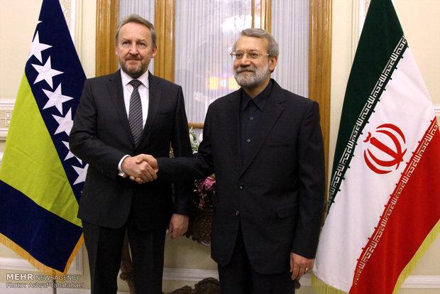 دیدار رئیس مجلس و رییس شورای ریاست جمهوری بوسنی