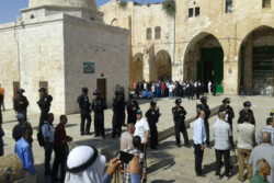 مستوطنون يقتحمون الاقصى والاحتلال يعتقل 4 عمال فلسطينيين