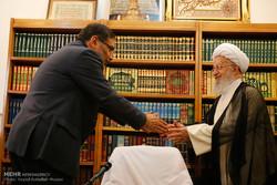 دیدار علی شمخانی دبیر شورای عالی امنیت ملی با مراجع عظام تقلید درقم