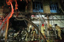 آتش سوزی در انبار مواد شوینده میدان بهارستان